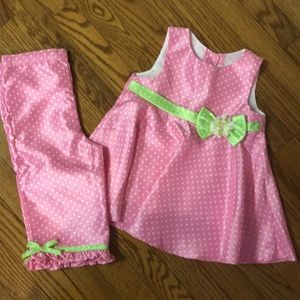 Good Lad Pink, White & Green matching set Size 6